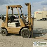 FORKLIFT, TOYOTA, INDOOR/OUTDOOR 4000LB CAPACITY, 4CYL PROPANE ENGINE