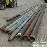 1 ASSORTMENT. MISC PIPE, STEEL, APPROX. 35FT -45FT LENGTH, MISC APPROX. DIAMETERS INCLUDING: 3.5IN,
