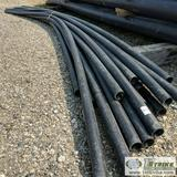 1 ASSORTMENT. PLASTIC PIPE, 18 EACH. 4IN IPS SDR 11 ASTM F714 PE 4110, APPROX 40FT LENGTHS