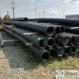 1 ASSORTMENT. PLASTIC PIPE, 15 EACH. 12IN IPS SDR 17 ASTM F714 PE 4710, APPROX 48FT LENGTHS, USED