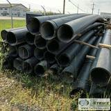 1 ASSORTMENT. PLASTIC PIPE, 20 EACH. 12IN IPS SDR 17 ASTM F714 PE 4710, APPROX 48FT LENGTHS, USED