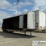 SEMI CURTAIN SIDE TRAILER, 1971 MILLER, 40FT, TANDEM AXLE