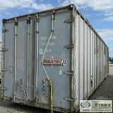 SHIPPING CONTAINER, 35FT, ALUMINUM AND STEEL CONSTRUCTION, WITH CONTENTS