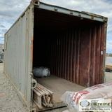 CONEX CONTAINER, 20FT, STEEL CONSTRUCTION, NO DOORS, WITH CONTENTS