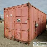 SHIPPING CONTAINER, 20FT, STEEL CONSTRUCTION