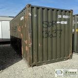 SHIPPING CONTAINER, 20FT, STEEL CONSTRUCTION, WITH CONTENTS INCLUDING: SPILL CONTAINMENT BOOM
