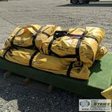 1 PALLET. FLUID TANK CONTAINMENT GROUND CLOTH WITH FRAME