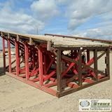 LOADING PLATFORM, STEEL WITH WOOD DECK, 11FT X 17FT10IN, 8FT3IN HIGH SIDE, 4FT11IN LOW SIDE
