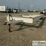 TRAILER FRAME, TANDEM AXLE, 8FT6IN X 36FT DECK. NO TITLE
