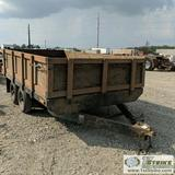 TRAILER, 2009 TANDEM AXLE, WITH SIDE BOARDS, 12FT X 88IN DECK