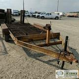 UTILITY TRAILER, HUDSON BROTHERS, TANDEM AXLE, 6FT X 14FT DECK, FOLDING RAMPS. NO TITLE