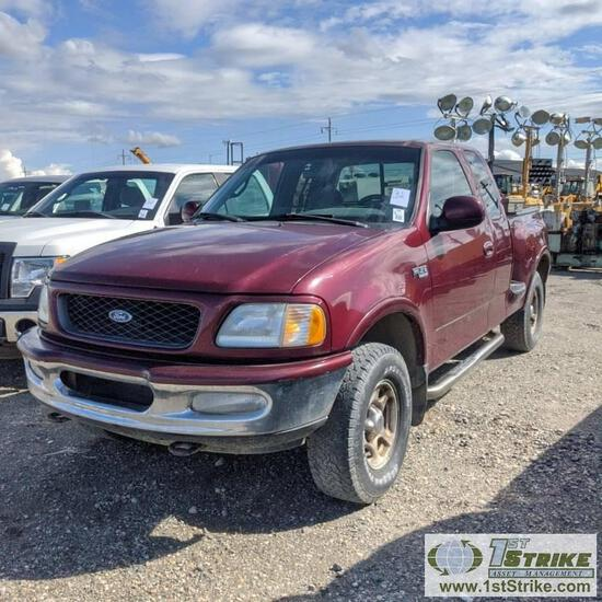 1997 FORD F-150 XLT, 4.6L TRITON, 4X4, EXTENDED CAB, SHORT BED, FLARE SIDE