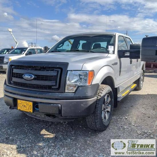 2013 FORD F-150 XL, 5.0L GAS, 4X4, CREW CAB, SHORT BED. TITLE IN TRANSIT