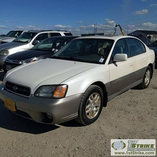 2003  SUBARU OUTBACK LIMITED, 2.5L GAS, AUTO TRANS, AWD, 4 DOOR, SEDAN. RECONSTRUCTED TITLE.