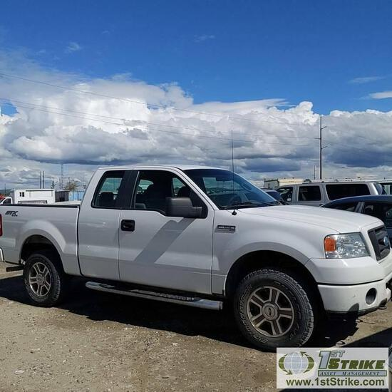 2008 FORD F-150 STX, 4.6L GAS, 4X4, EXTENDED CAB, SHORT BED