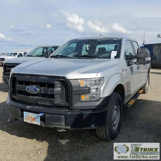 2015 FORD F-150 XL, 5.0L GAS, 4X4, CREW CAB, SHORT BED