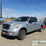 2005 FORD F-150 STX, 4.6L TRITON, 4x4, EXTENDED CAB, SHORT BED