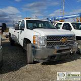 2012 CHEVROLET SILVERADO 2500HD LS, 6.6L DURAMAX, 4X4, CREW CAB, LONG BED. WEBASTO HEAT