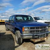 1997 CHEVROLET CHEYENNE 3500, 6.5L DIESEL, 4X4, CREW CAB, LONG BED. UNKNOWN MECHANICAL PROBLEMS