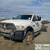 2012 RAM 5500 HEADY DUTY, 6.7L CUMMINS, 4X4, DUALLY, CAB AND CHASSIS, CREW CAB, WITH VMAC ENGINE MOU