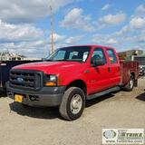 2007 FORD F-250 SUPERDUTY XL, 6.0L POWERSTROKE, 4X4, CREW CAB, 8FT SERVICE BED