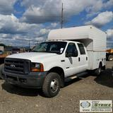 2006 FORD F-350 SUPERDUTY XL, 6.0L POWERSTROKE, 4X4, DUALLY, CREW CAB, 9FT SERVICE BED, WITH CAB OVE