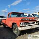 1960 CHEVROLET APACHE, RWD, REGULAR CAB, LONG BED, STEP-SIDE. UNKNOWN MECHANICAL PROBLEMS. NO TITLE