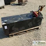 FUEL TANK, STEEL CONSTRUCTION, W/13 GPM FILL-RITE 12V PUMP