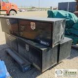 3 EACH. TRUCK TOOL BOXES, BUYERS, STEEL CONSTRUCTION