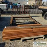 FLAT BED, STEEL AND WOOD, FITS FORD F-250 8FT BED