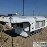 CAB-OVER CAMPER, ALASKAN CAMPER, FOR 8FT BED, ALUMINIUM CONSTRUCTION, POP UP TOP