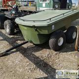 ATV CARGO TRAILER, WALKING TANDEM AXLE. TUB TYPE WITH COVER