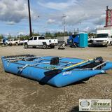 INFLATABLE CATARAFT, AIRE, 16FT, WITH OARS AND PUMP