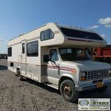 MOTORHOME, 1990 E-350 FLEETWOOD JAMBOREE RALLYE, 5.8L GAS ENGINE, 20FT CABIN WITH ADDITIONALCAB OVER