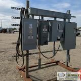 ELECTRICAL H-FRAME, SWITCH GEAR FOR 25HP MOTOR, 50HP MOTOR + 50HP MOTOR