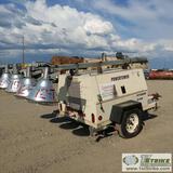 LIGHT PLANT, 2008 FRONTIER POWER TOWER, MODEL PT4000, 4CYL KUBOTA, 12 KW, TRAILER MOUNTED
