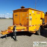HEATER, EQUIPMENT SOURCE ES700, 3CYL KUBOTA DIESEL, TRAILER MOUNTED, W/ COLLAPSABLE LIGHT TOWER
