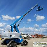 MANLIFT, 2008 GENIE S-65, 4CYL PERKINS DIESEL, 4X4, 500LB CAPACITY, 65FT LIFT HEIGHT, TRACKED