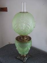Gone w/the Wind Green Parlor Lamp