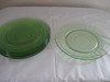 Green Depression Glass Plates