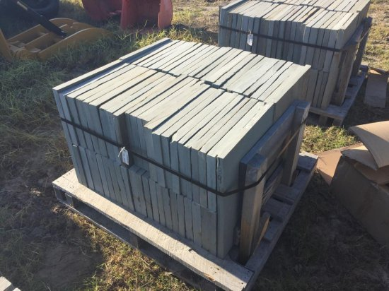 PALLET OF PA BLUESTONE PALLETS OF STONE 12in. x 18in. x 1/2in. full color, all natural, cleft flags