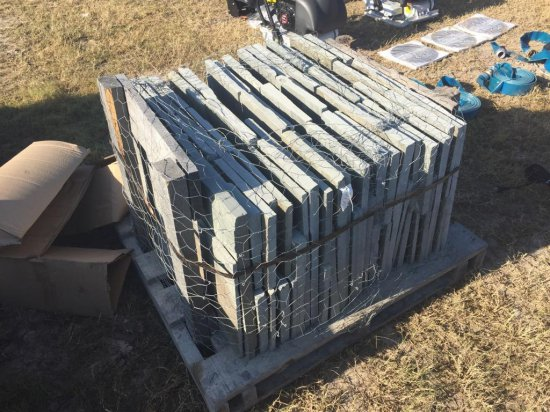PALLET OF PA ASSORTED BLUESTONE PALLETS OF STONE Flagston, Tumbled, boulders, etc.
