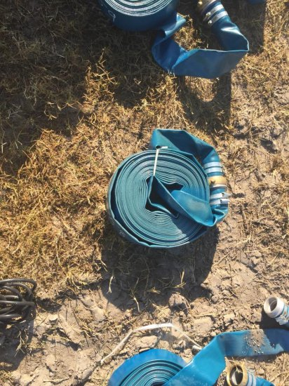 NEW 2IN. X 50FT. DISCHARGE WATER HOSES NEW SUPPORT EQUIPMENT