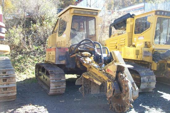 RAYCO T275 STUMP CUTTER SN:HYD11398 powered by John Deere diesel engine, equipped with EROPS, air,