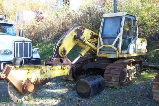 KOBELCO ED180 STUMP CUTTER SN:YLU0170 powered by diesel engine, equipped with Cab, guarding, 24in.