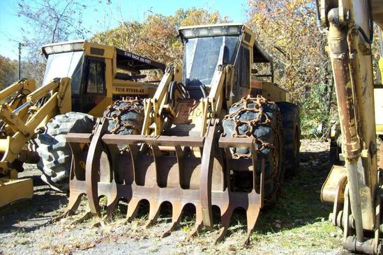 HYDRO-AX 721E MULCHING MACHINE SN:7545 powered by John Deere diesel engine, equipped with EROPS,