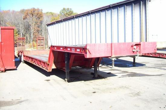 2012 PITTS 55 TON ULTRA LOW DETACHABLE GOOSENECK TRAILER VN:120539 equipped with 55 ton capacity,