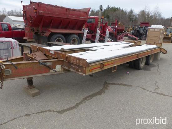 "CUSTOM 20TON TAGALONG TRAILER? BILL OF SALE ONLY VN:B1T393?equipped with 20ft?x 102""? deck, 5 ft"