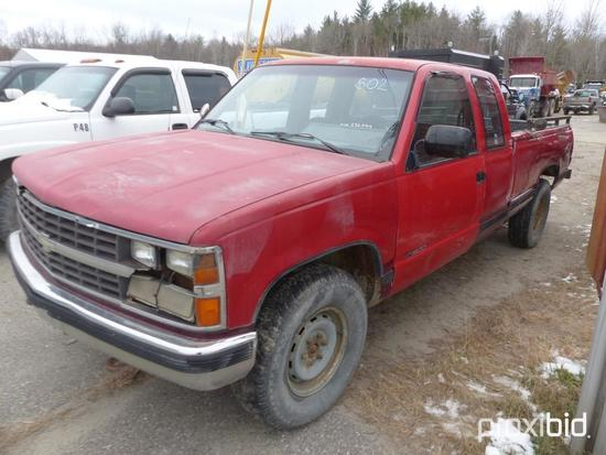 1991 CHEVY 1500 PICK UP TRUCK BILL OF SALE ONLY V-232034