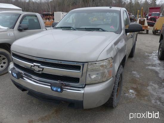 2007 CHEVY 1500 PICKUP TRUCK VN:1GCEK14C07Z651516 4x4, powered by 5.3L V8 gas engine, equipped with